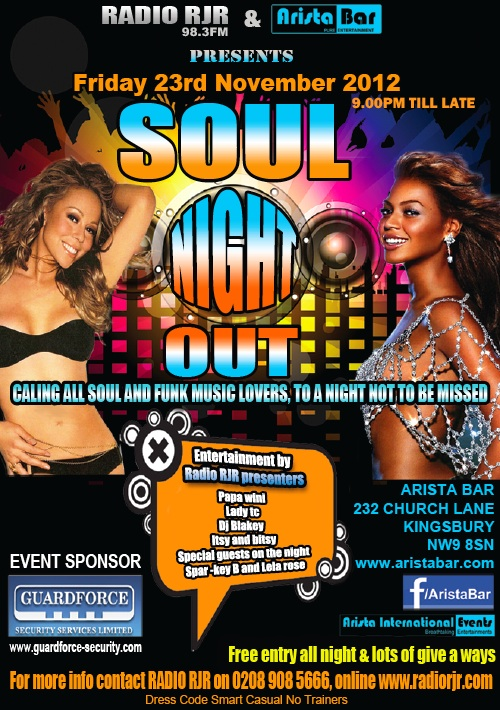 RadioRJR.com - Soul Night Out